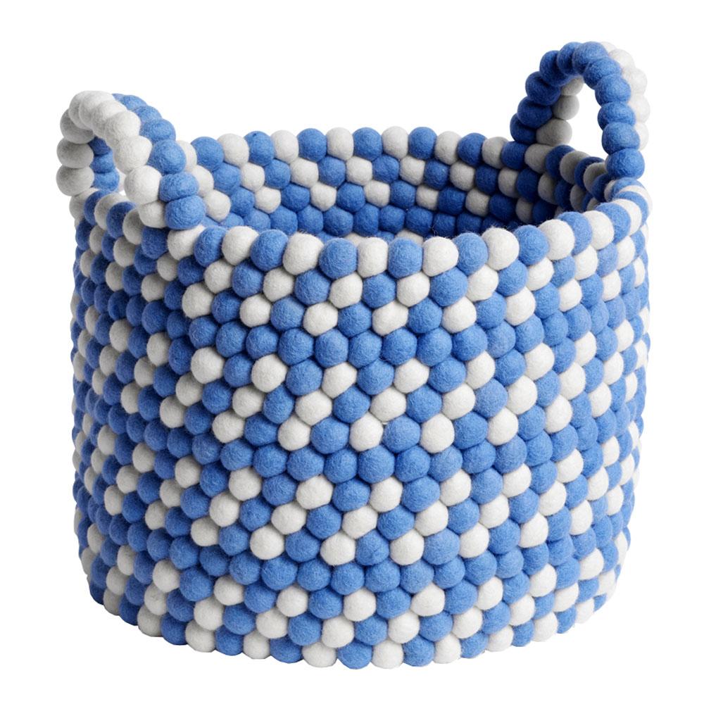 Förvaringskorg med Handtag 32 cm Blue Dash