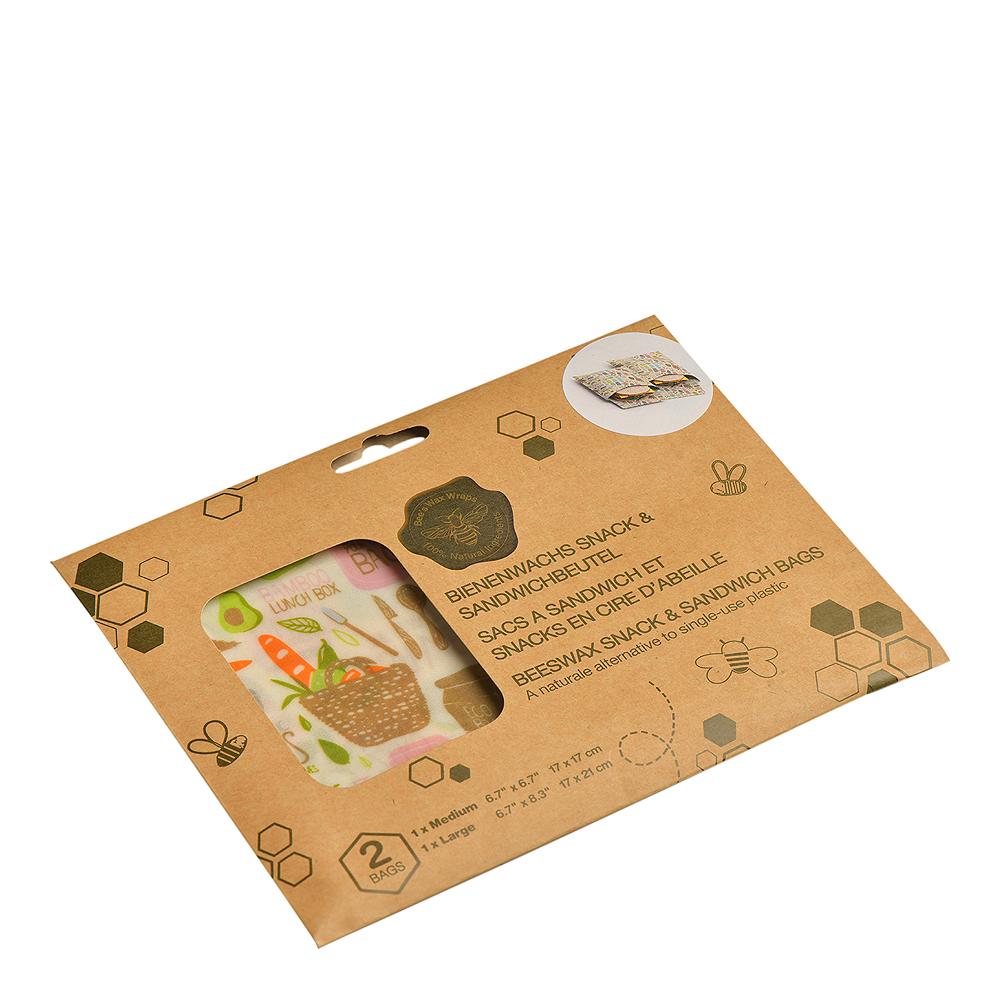 Bivaxduk Smörgåspåse Zero Waste 2-pack