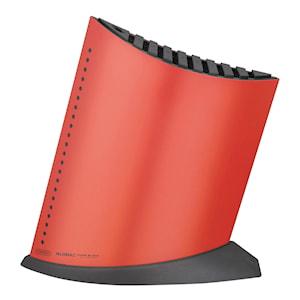 Knivblock för 9 knivar Röd