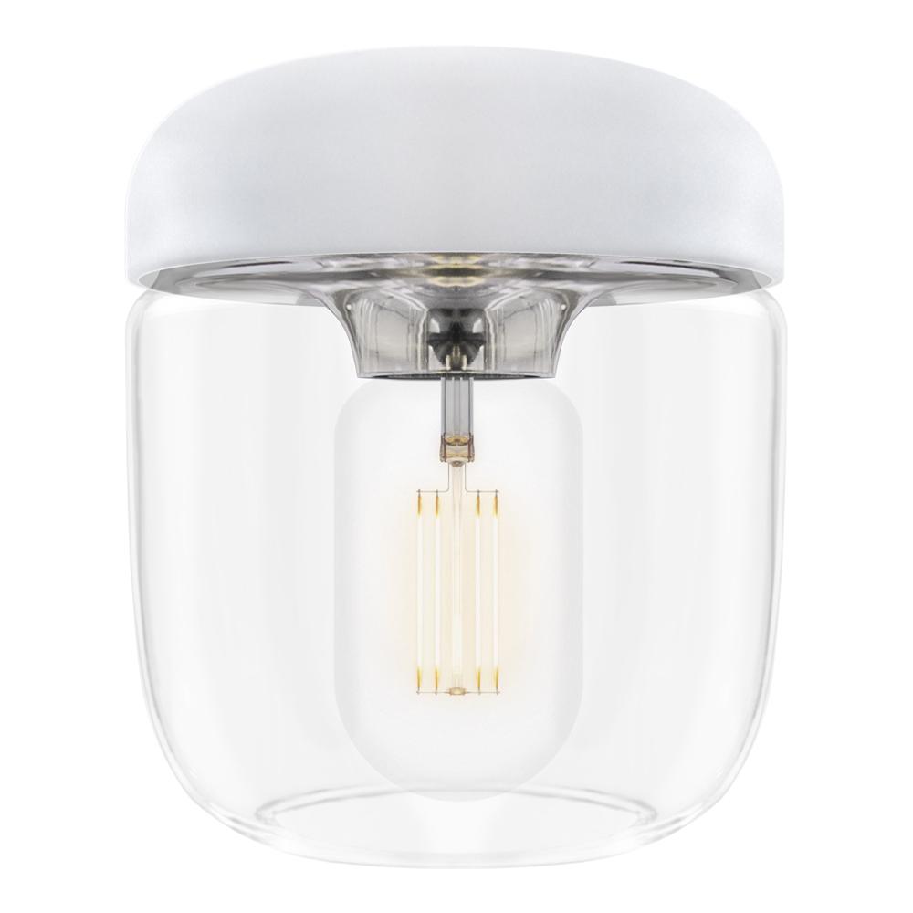 Acorn Lampskärm 14 cm Vit/Stål