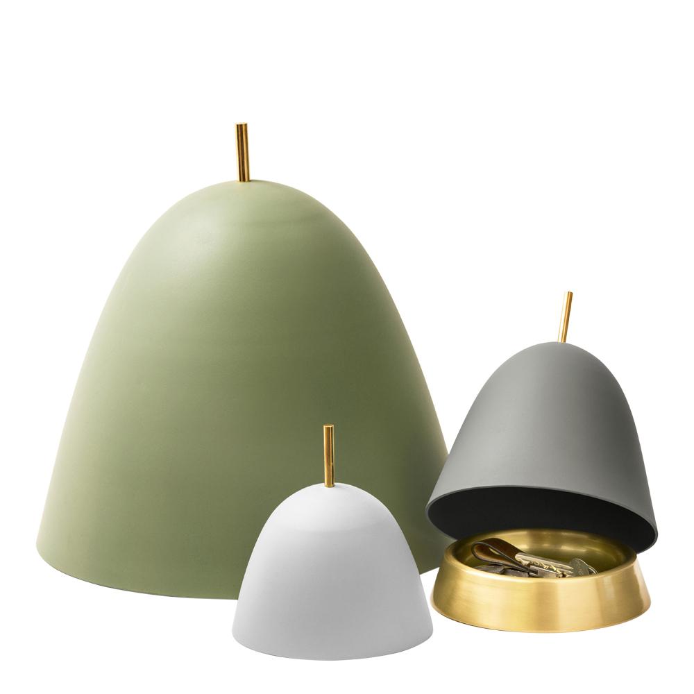 Gömma Kupa/fat 34 cm Vit aluminium/mässing