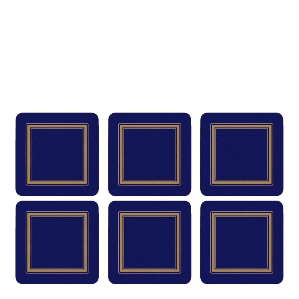 Classic Glasunderlägg 6-pack Midnatt