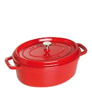 Gryta 4,2 L oval Röd