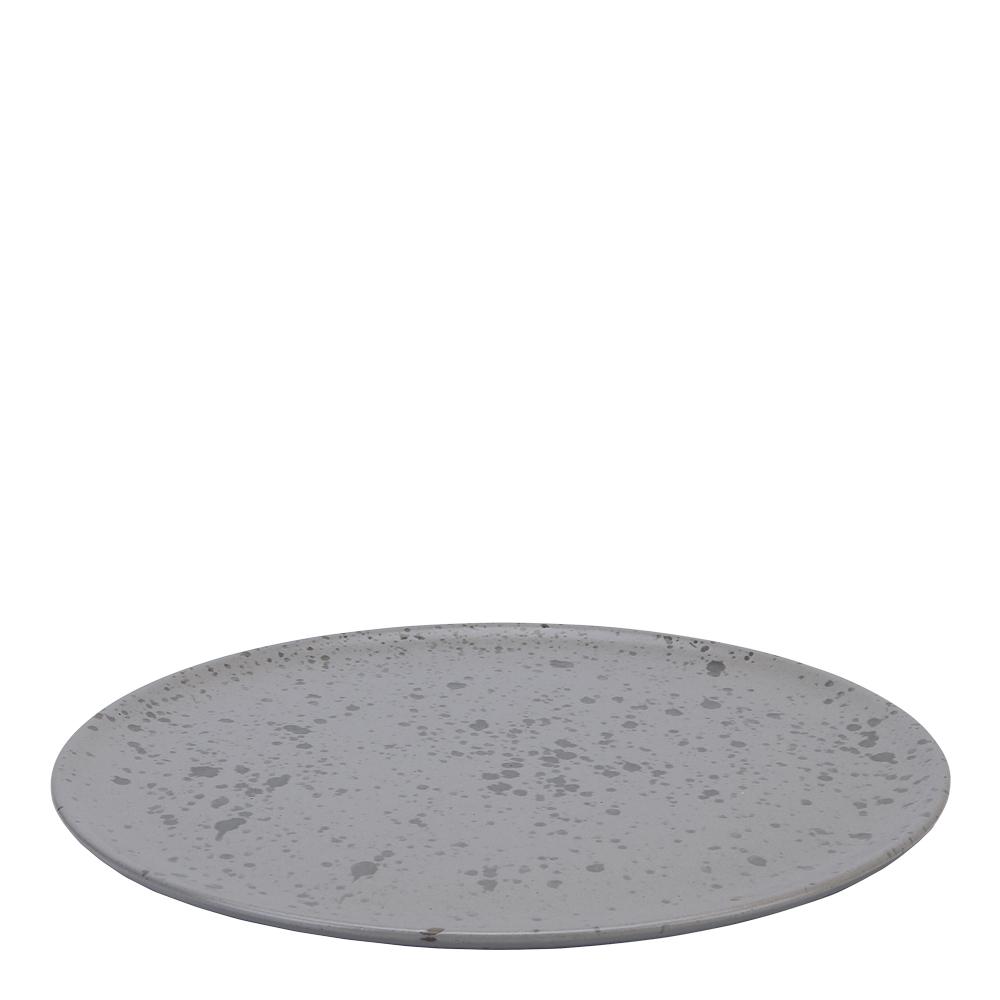 Raw Tallrik 28 cm fläckig Grå