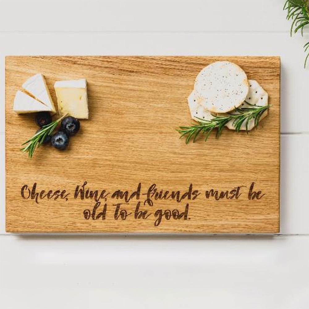 Skärbräda Ek Cheese Wine & Friends 30x20 cm