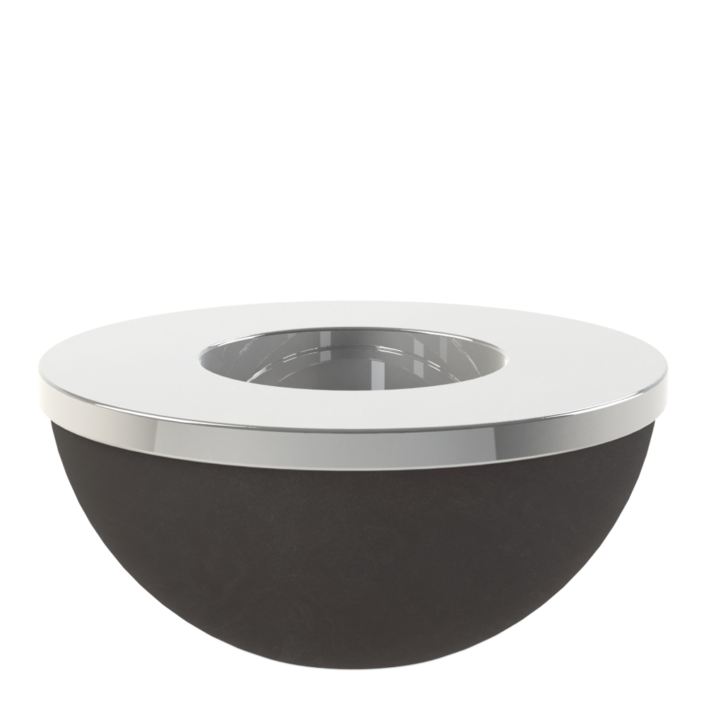 Light Bowl Ljushållare/skål 8 cm Svart/Silver