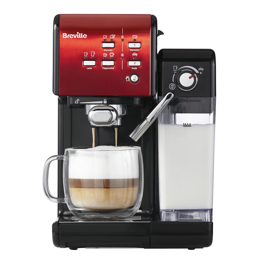 Prima Latte II Kaffemaskin Röd