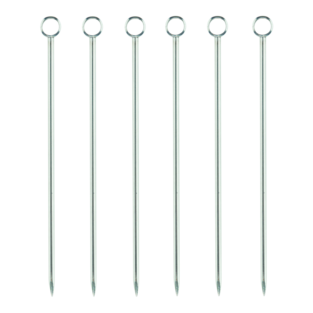 Professional Cocktailpinnar 6-pack Rostfri