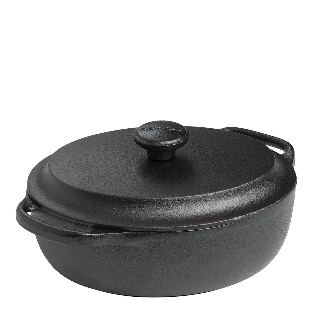 Gryta oval med järnlock 2 L