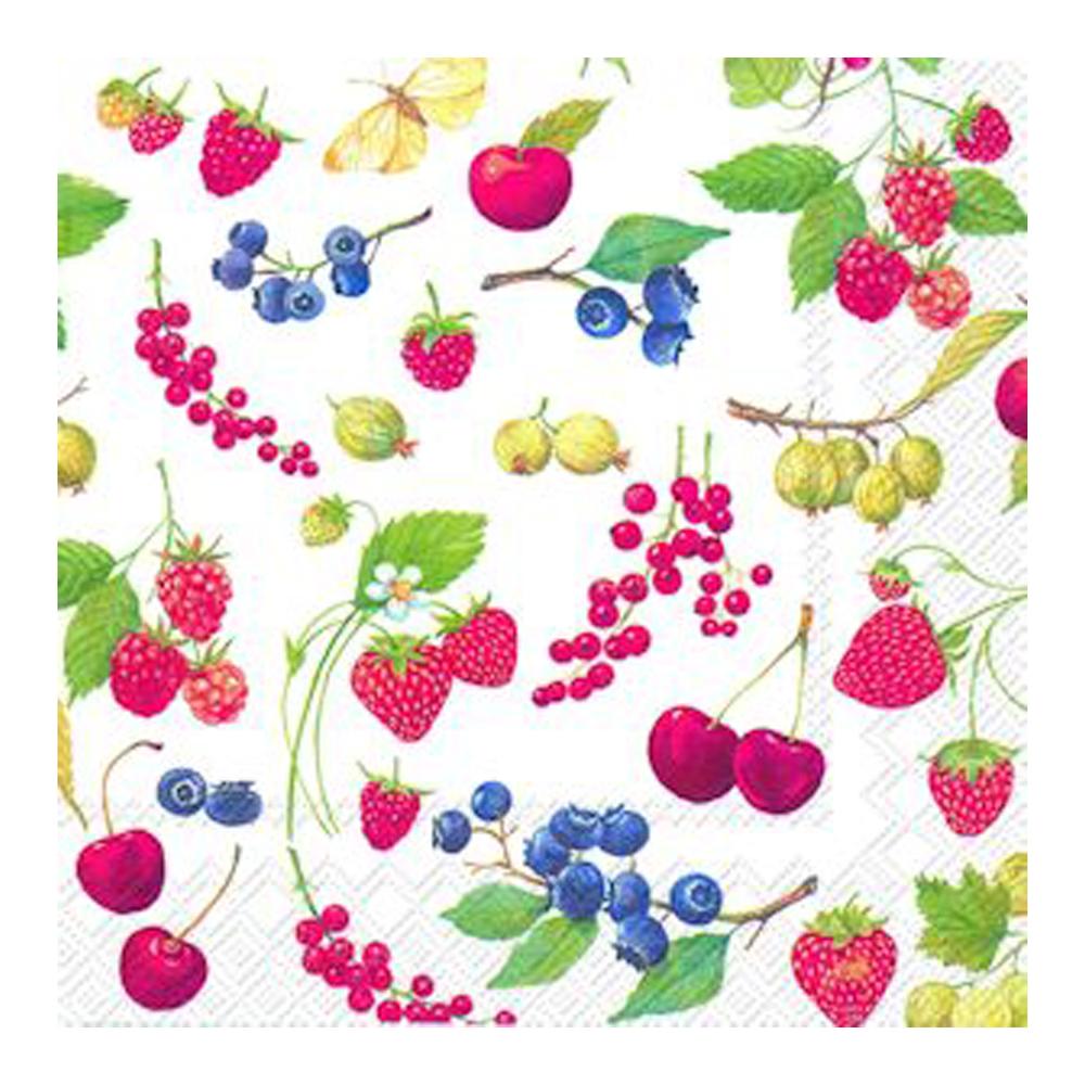 Servett 33x33 cm 20-pack Fruits of summer