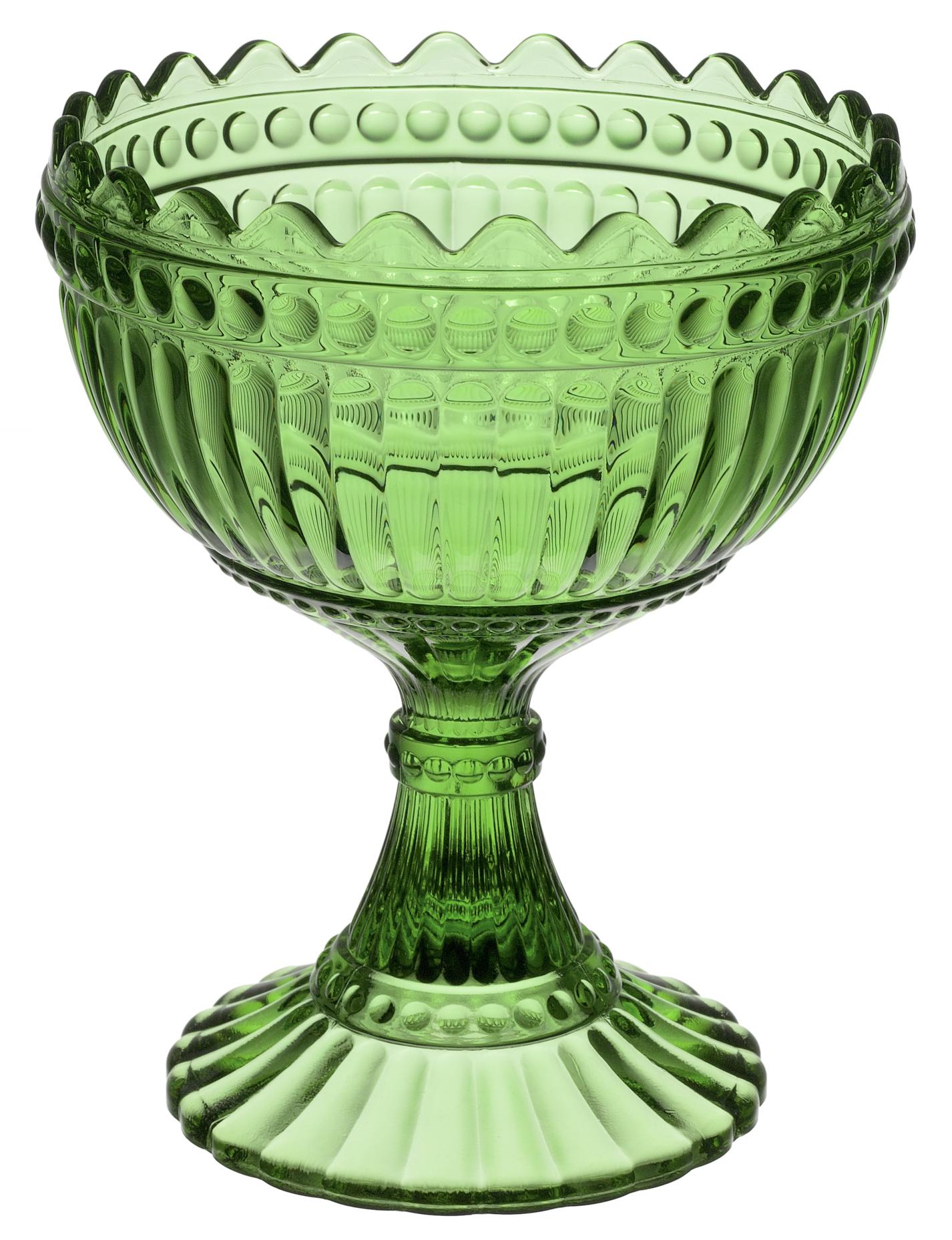 Marimekko Skål på fot 15 cm Grön
