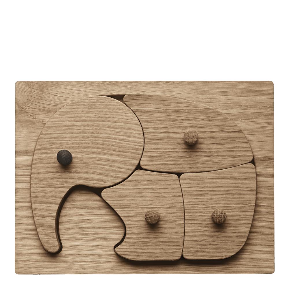 Elefant Pussel i trä