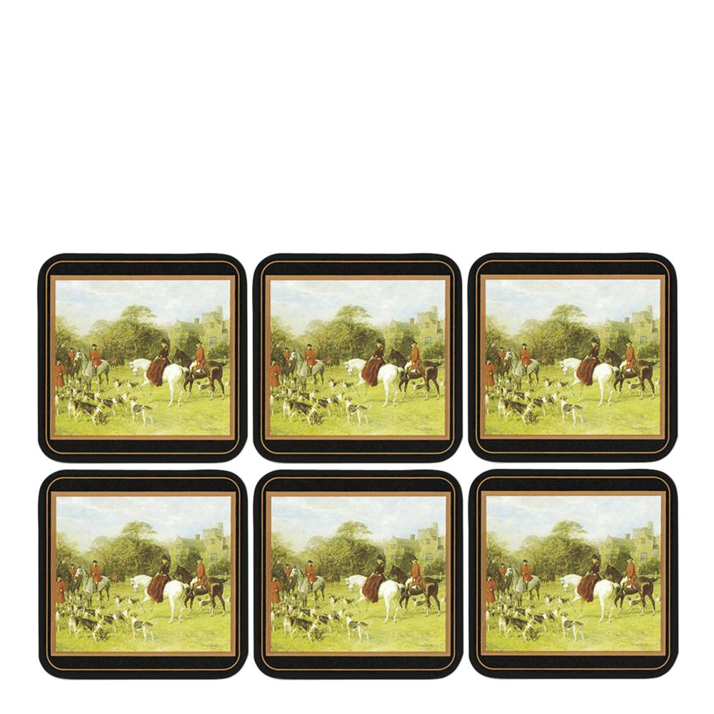 Tally Ho Glasunderlägg 6-pack