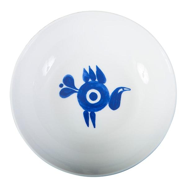 Fågel Blå Skål 20 cm