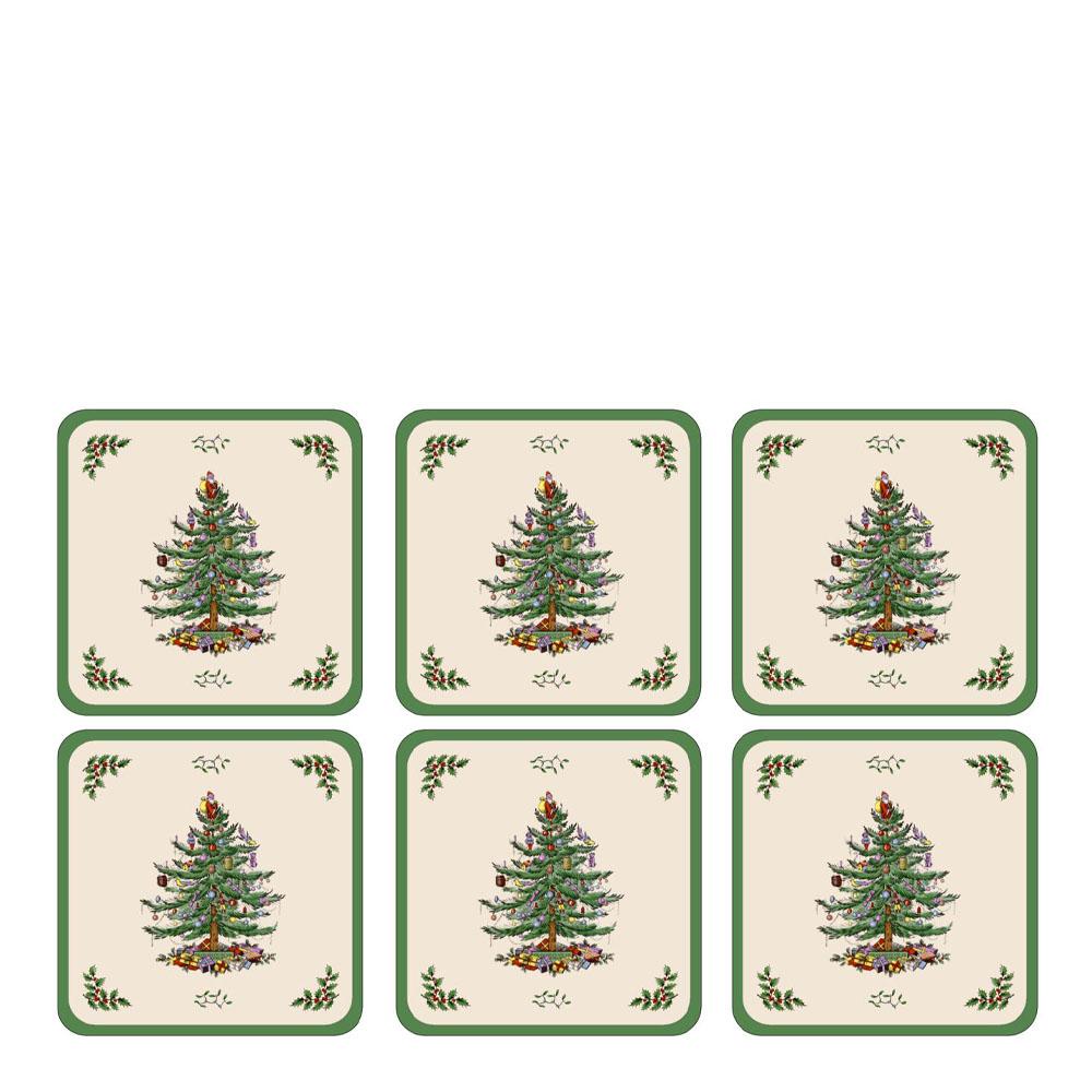 Christmas Tree Glasunderlägg 6-pack