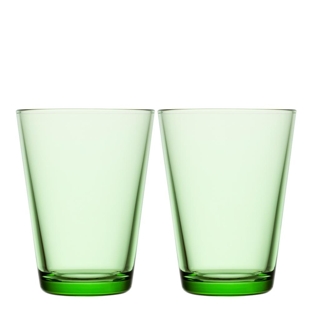 Kartio Glas 40 cl 2-pack Äppelgrön