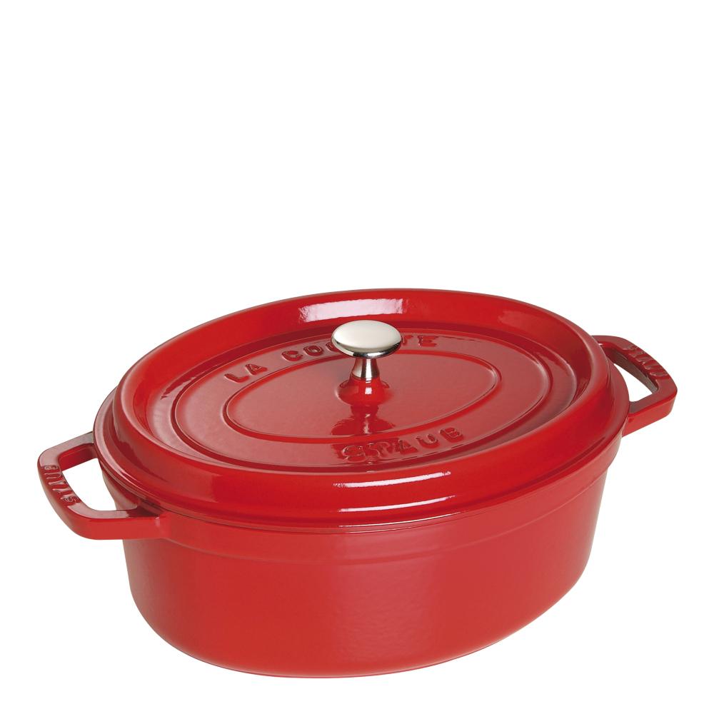 Gryta 42 L oval Röd