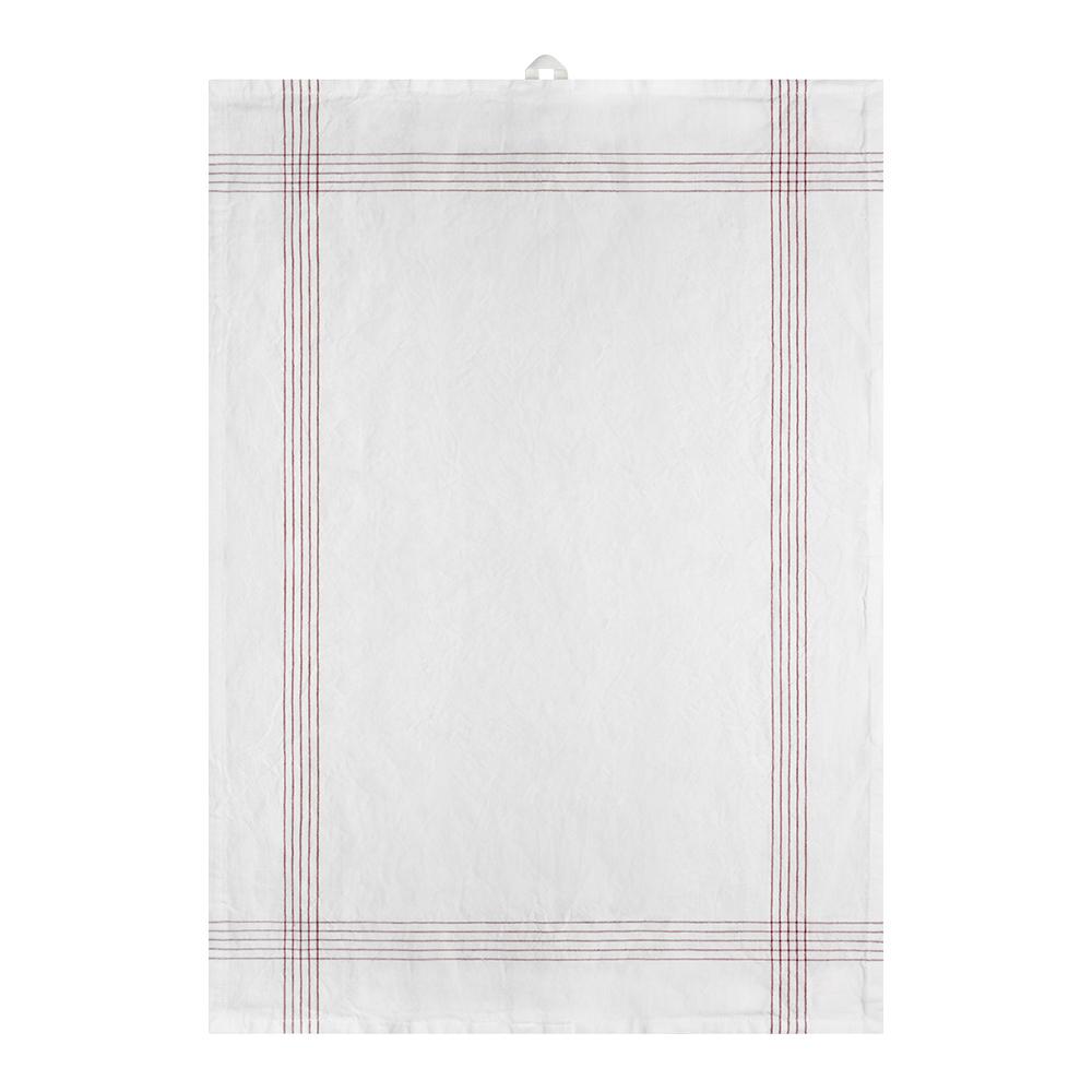 Signerat Handduk 50x70 cm Röd smal rand