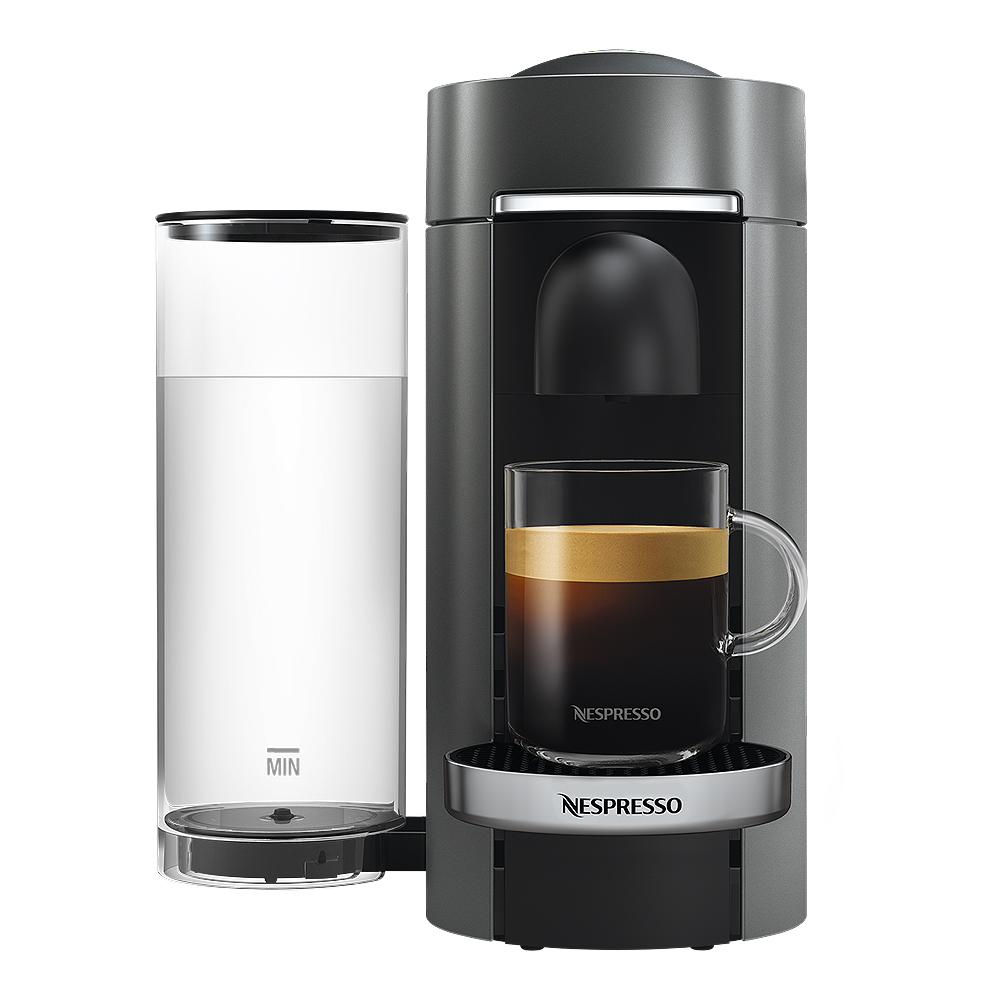 VertuoPlus Deluxe Flat Top Kaffemaskin Titan