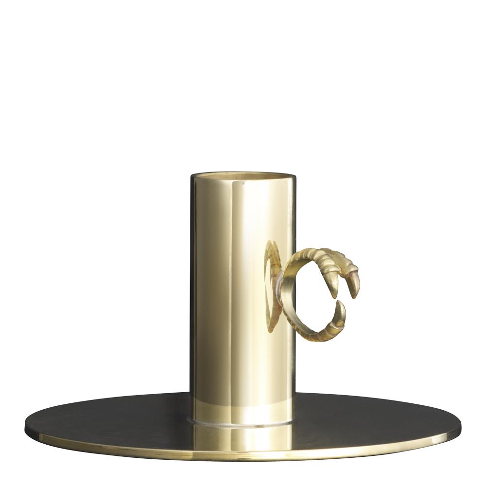 Claw Ljusstake ring Mässing 10,5 cm