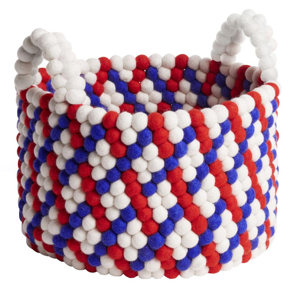 Förvaringskorg med Handtag 27 cm Red Weave