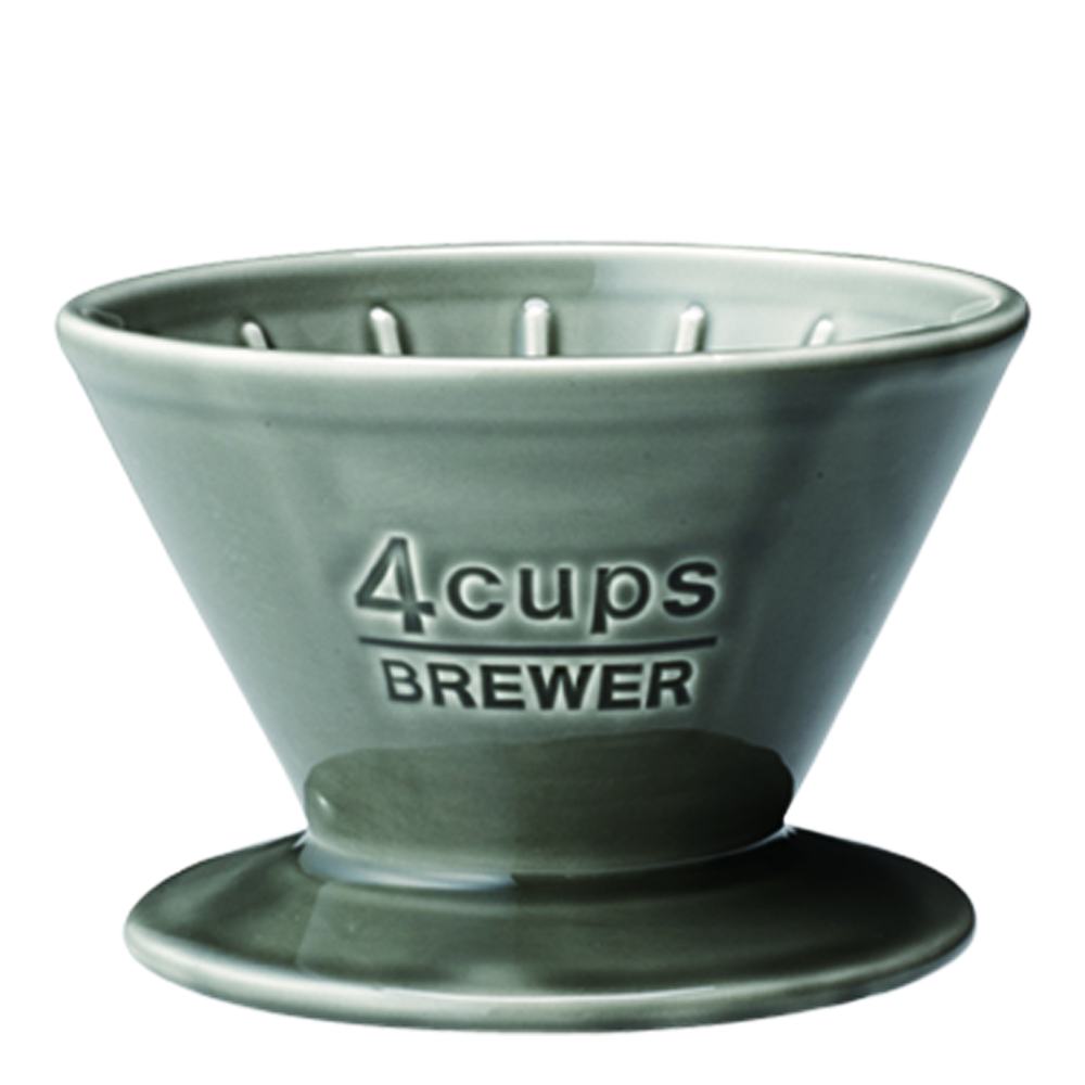 Slow Coffee Filterhållare 4 koppar porslin