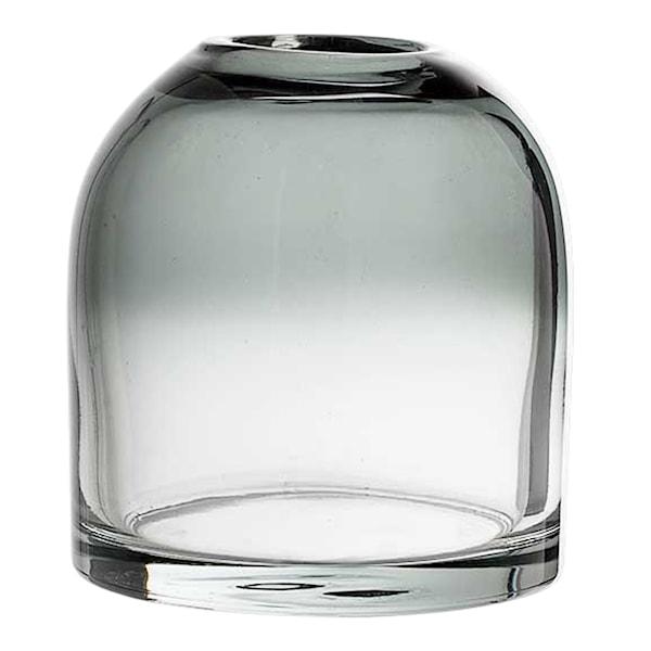 Glas Vas 12x13 cm Kupol Grå