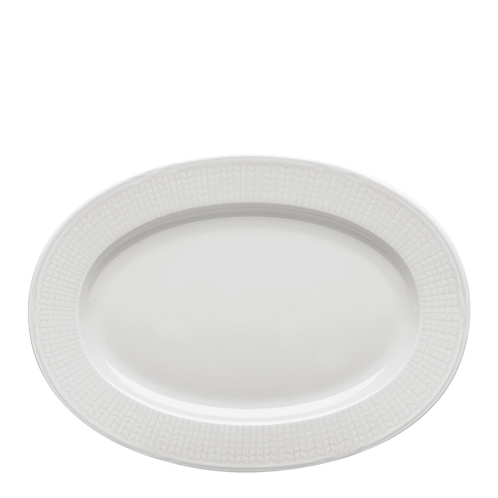 Swedish Grace Fat oval 32 cm Snö