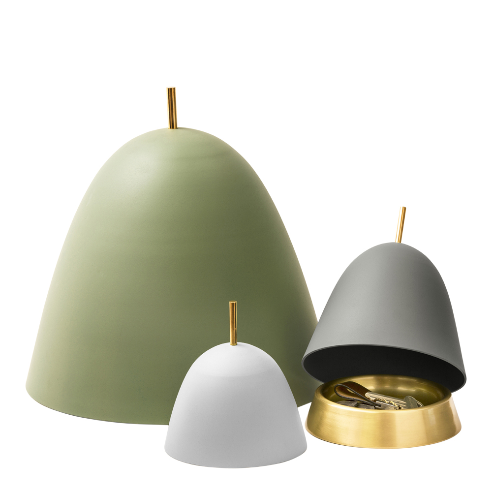 Gömma Kupa/fat 15 cm Grå aluminium/mässing