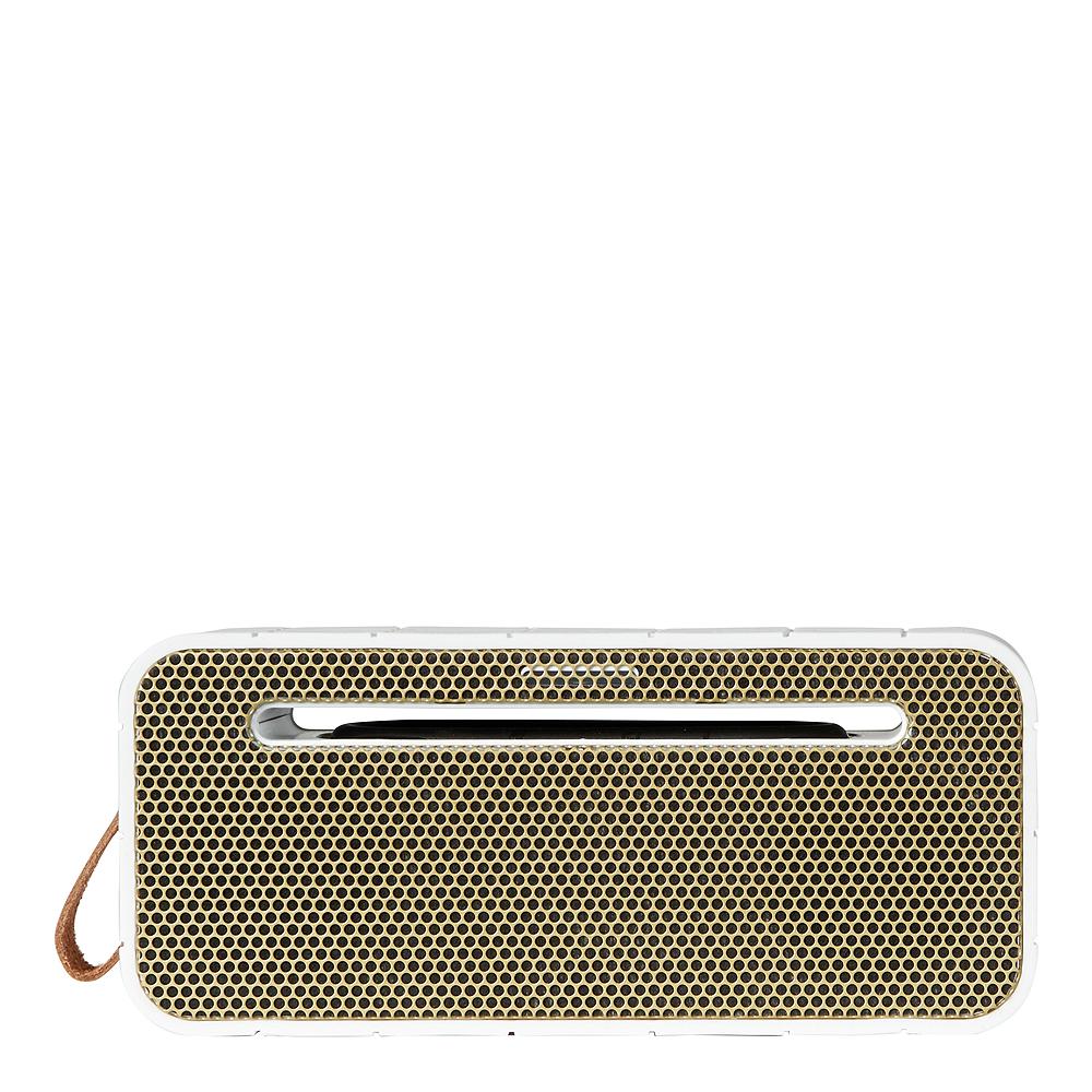aMove Högtalare Bluetooth med Powerbank Vit/Guld