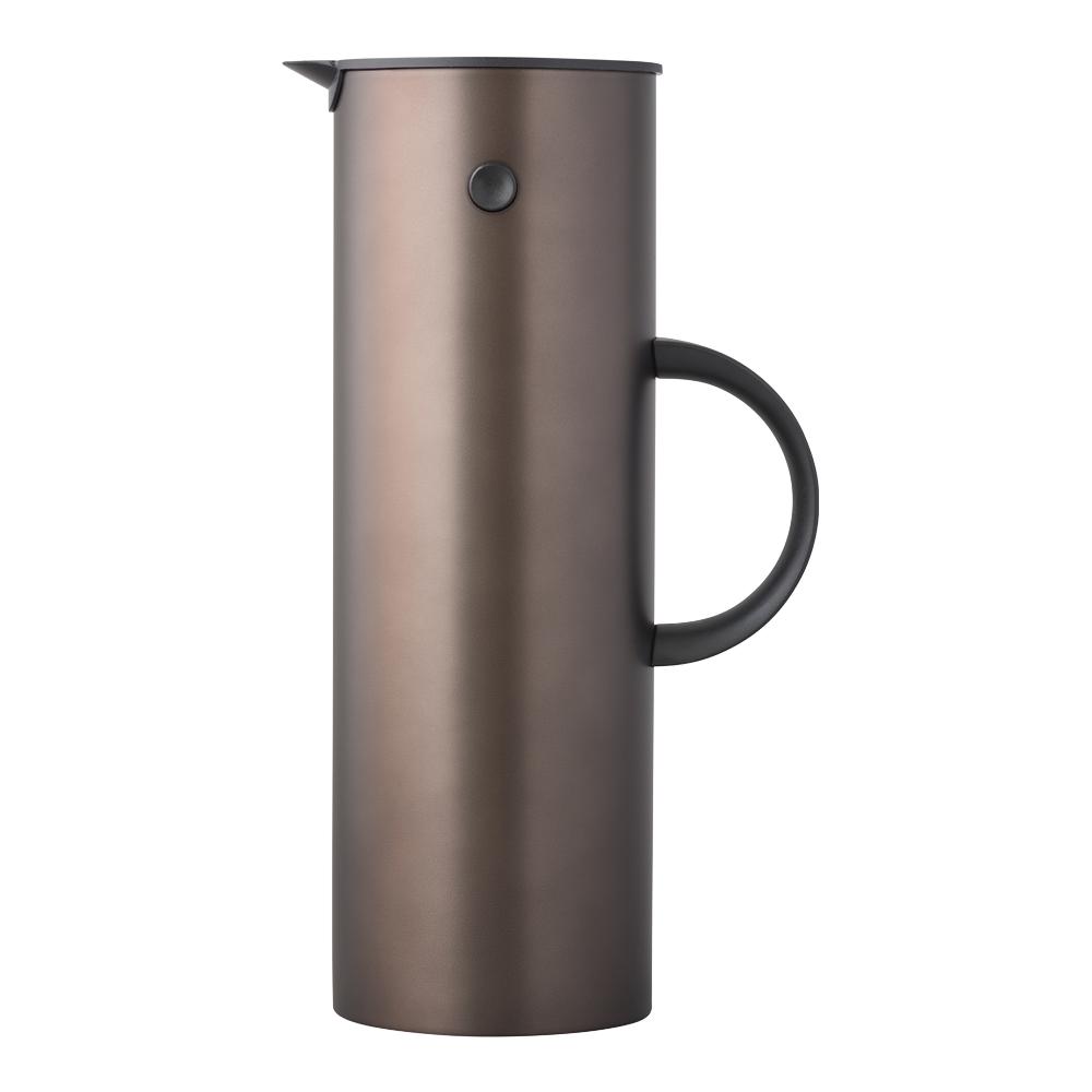 Classic Termokanna 1 L stål Mörkbrun metall