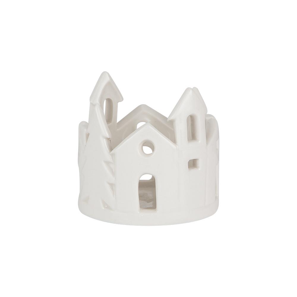 Värmeljushållare By Porslin 6,8 cm Vit