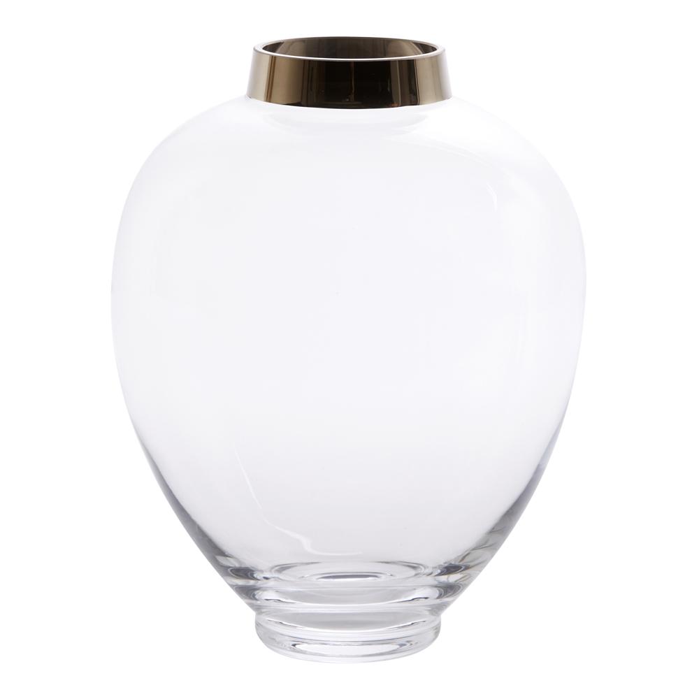 Elise Vas 25 cm Glas/silver