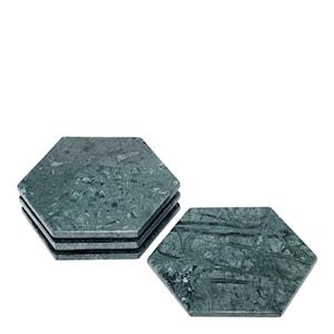 Rumours Glasunderlägg 4-pack Grön marmor
