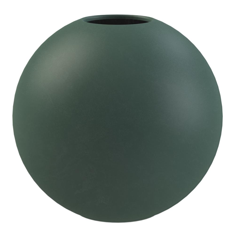Ball Vas 8 cm Mörkgrön