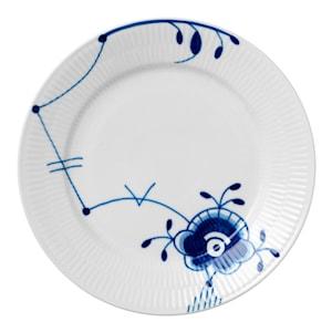 Mega Blå Tallrik flat 22 cm dekor 6