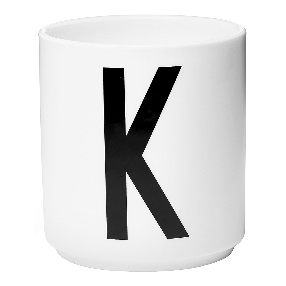 Design Letters Mugg K Vit
