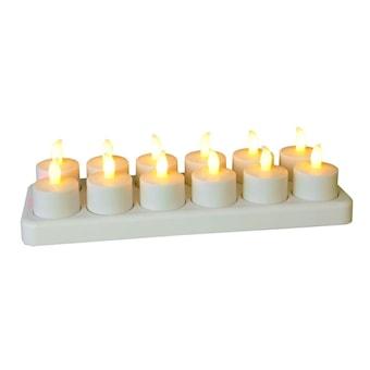 Underbar 24 Värmeljus LED uppladdningsbara med fjärrkontroll   pålyset.se NX-63