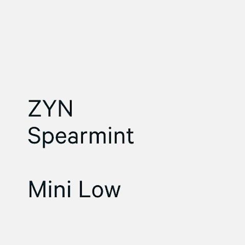 ZYN Mini Spearmint