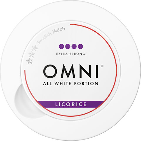 OMNI Licorice All White Portion Extra Strong