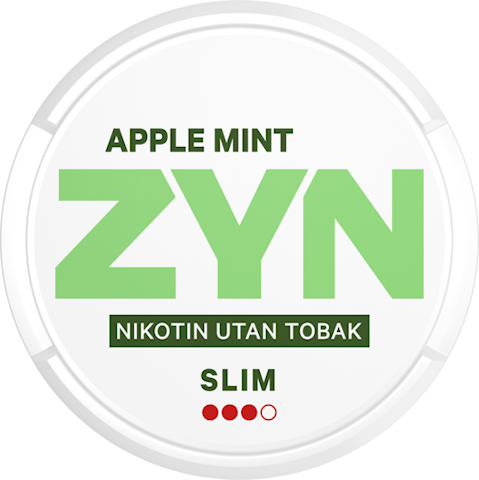 ZYN Slim Apple Mint All White Strong