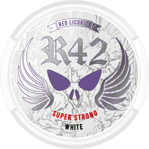R42 Red Licorice White Portion Super Strong