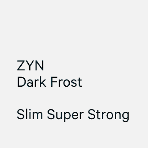 ZYN Slim Dark Frost