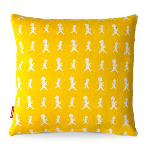 Solstickan kuddfodral pojkar gul 50x50