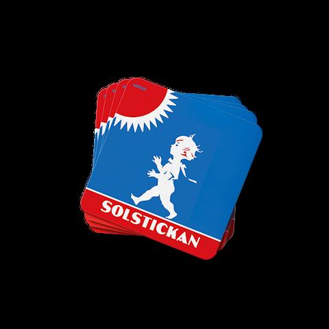 Solstickan glasunderlägg original 4-pack