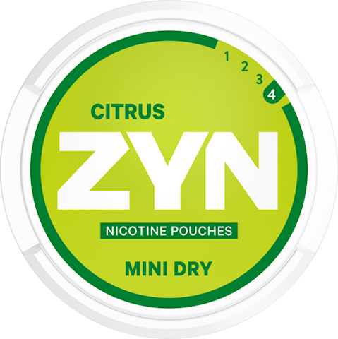 ZYN Mini Dry Citrus All White Extra Strong