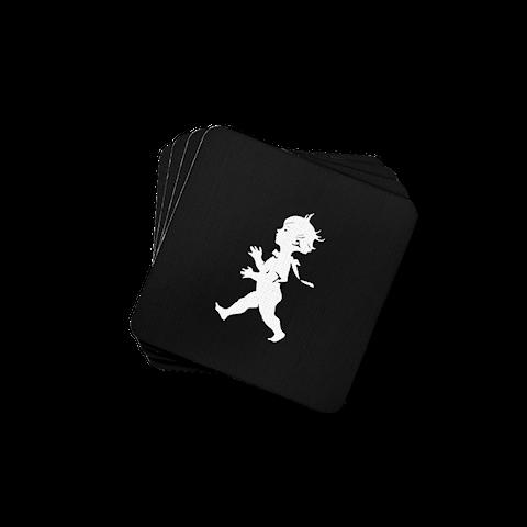 Solstickan glasunderlägg svart 4-pack
