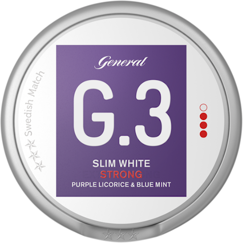 G.3 Purple Licorice & Blue Mint Slim White Strong