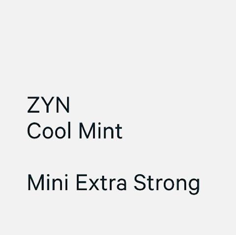 ZYN Mini Cool Mint Extra Strong