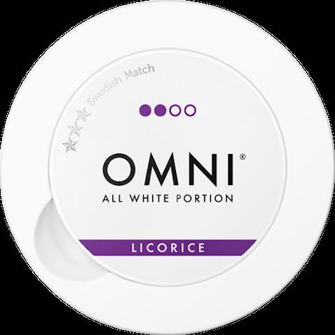 OMNI Licorice All White Portion
